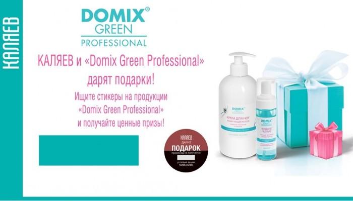 Domix Green Professional и сеть магазинов КАЛЯЕВ дарят подарки