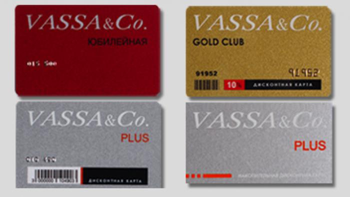 Акции VASSA&CO. Дисконтная программа со скидками до 10%