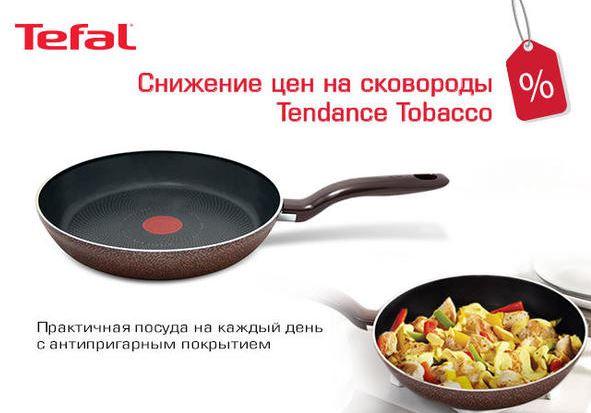 Акция в ДНС. Снижены цены на сковороды Tefal