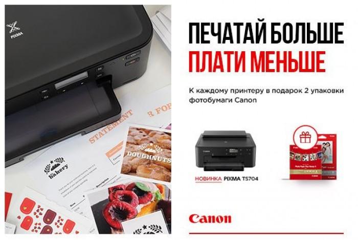 Акции ДНС 2019. Подарок за покупку печатающей техники Canon