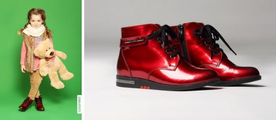 Юничел - Красные ботиночки для девочек по суперцене