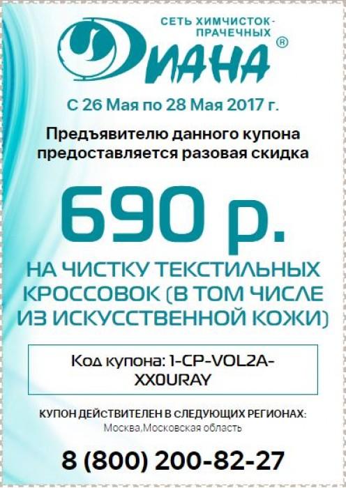Химчистка Диана - Купон на скидку 690 рублей