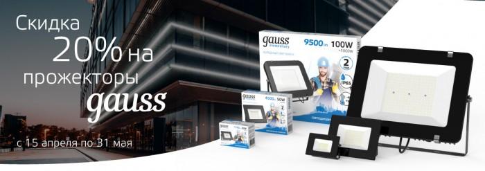 Акции ДНС 2021. 20% на прожекторы Gauss