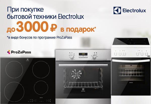 ДНС: Возвращаем до 3000 руб. при покупке бытовой техники Electrolux