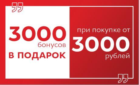 Акции Zenden. Дарим 3000 бонусов при покупке от 3000 рублей