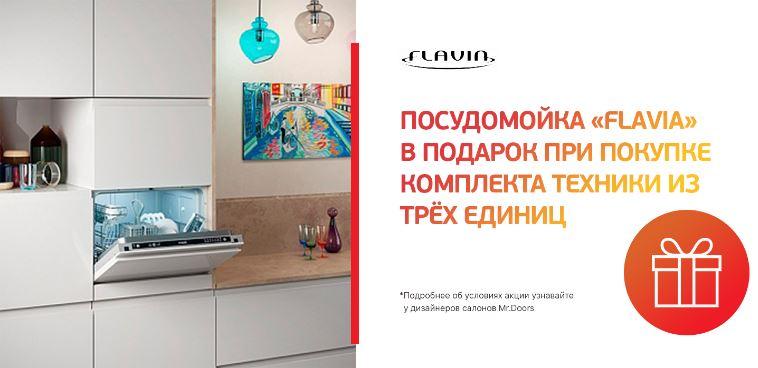 Mr.Doors  - Посудомойка «Flavia» в подарок