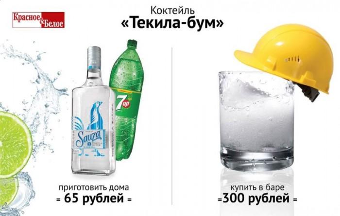 """Красное и Белое - Кктейль """"Текила-бум"""""""