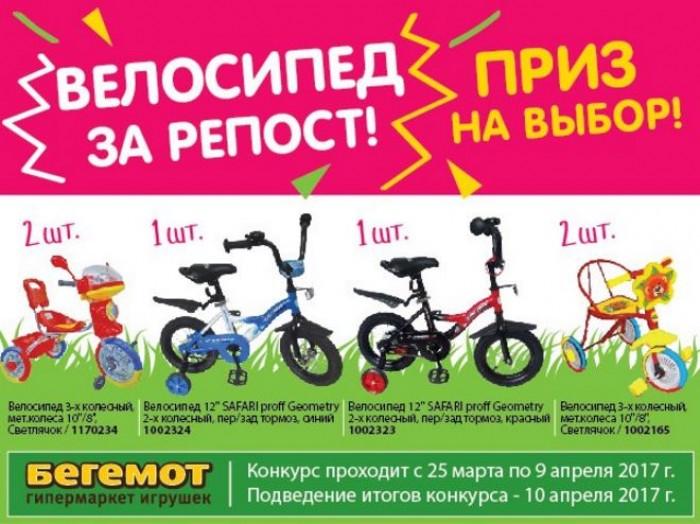 Бегемот - Велосипед в подарок за репост