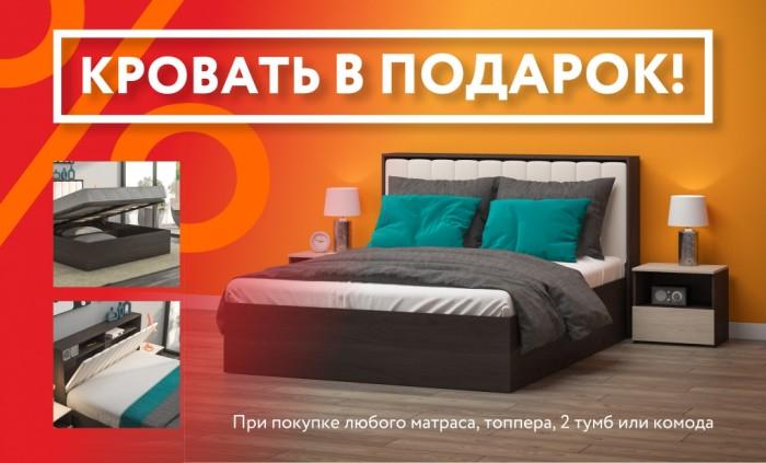 Акции Много Мебели ноябрь-декабрь 2019. Кровать LUX в подарок