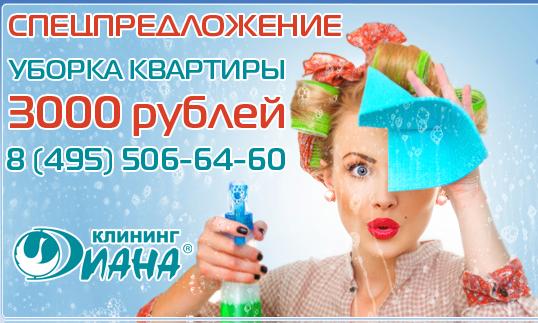 """Специальное предложение  по комплексной уборке квартиры  от компании """"ДИАНА"""""""