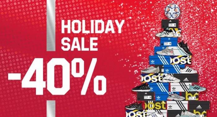 Новогодняя распродажа в Адидас. До 40% + скидка по карте