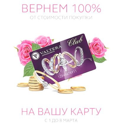 Valtera - Вернем 100% бонусами на карту