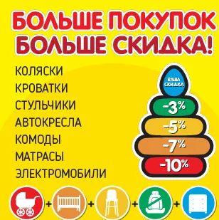 """Магазин ДЕТКИ - Акции в июле """"Больше покупок - больше скидка"""""""
